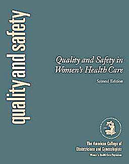 Portada del libro 9781934946930 Quality and Safety in Obstetrics and Gynecology