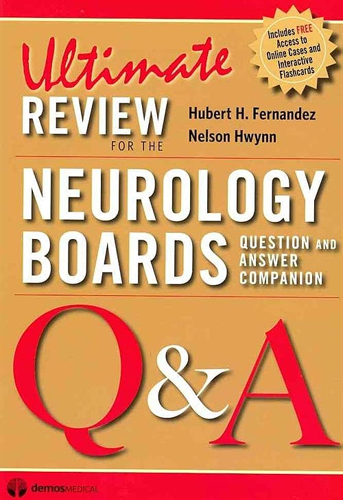 Portada del libro 9781936287116 Ultimate Review for the Neurology Boards. Question and Answer Companion