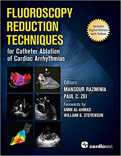 Portada del libro 9781942909309 Fluoroscopy Reduction Techniques for Catheter Ablation of Cardiac Arrhythmias