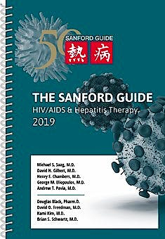 Portada del libro 9781944272128 The Sanford Guide to HIV/AIDS and Hepatitis Therapy 2019 (Spiral Edition)