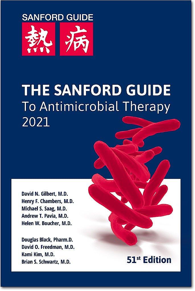 Portada del libro 9781944272166 The Sanford Guide Antimicrobial Therapy 2021 Pocket Edition
