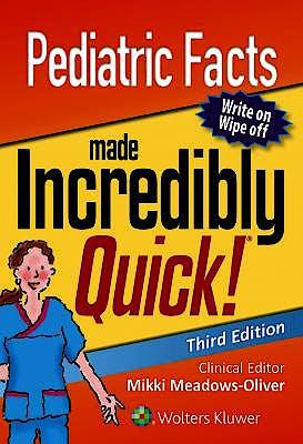 Portada del libro 9781975100261 Pediatric Facts Made Incredibly Quick!