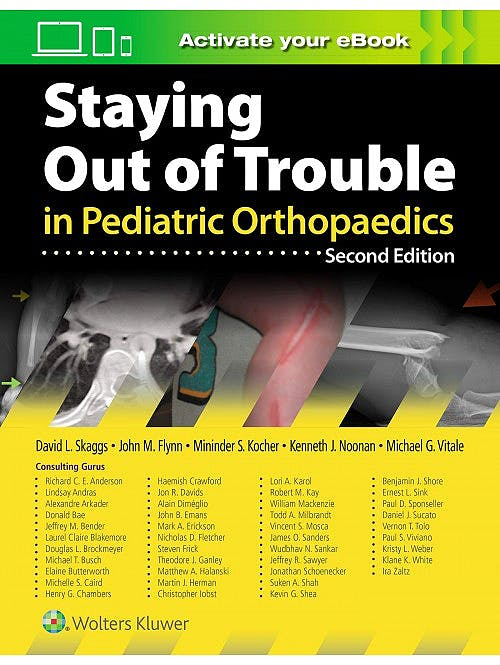Portada del libro 9781975103958 Staying Out of Trouble in Pediatric Orthopaedics