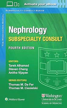 Portada del libro 9781975113452 The Washington Manual Nephrology Subspecialty Consult