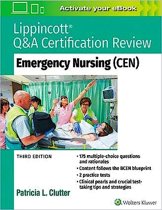 Portada del libro 9781975114558 Lippincott Q&A Certification Review. Emergency Nursing (CEN)