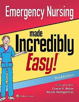 Portada del libro 9781975117474 Emergency Nursing Made Incredibly Easy!