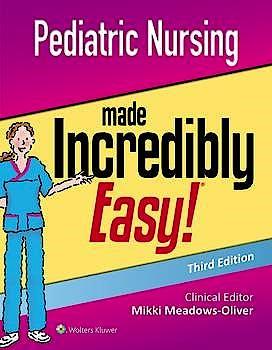 Portada del libro 9781975124830 Pediatric Nursing Made Incredibly Easy!