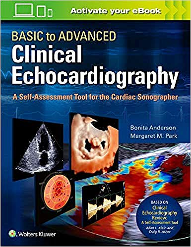 Portada del libro 9781975136253 Basic to Advanced Clinical Echocardiography. A Self-Assessment Tool for the Cardiac Sonographer