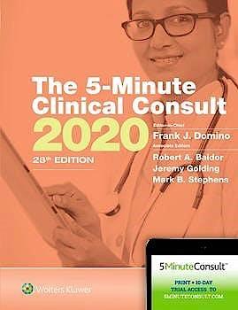 Portada del libro 9781975136413 The 5-Minute Clinical Consult 2020