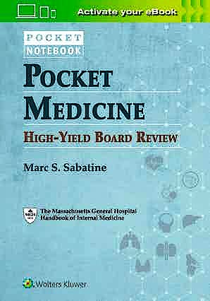 Portada del libro 9781975142438 Pocket Medicine High-Yield Board Review