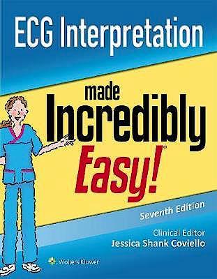Portada del libro 9781975148263 ECG Interpretation Made Incredibly Easy!