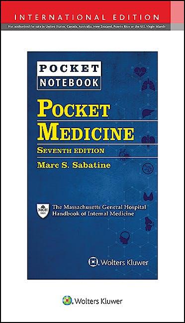 Portada del libro 9781975150044 Pocket Medicine. The Massachusetts General Hospital Handbook of Internal Medicine (International Edition)
