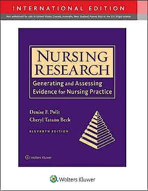 Portada del libro 9781975154141 Nursing Research. Generating and Assessing Evidence for Nursing Practice (International Edition)