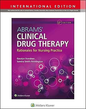 Portada del libro 9781975160173 ABRAMS' Clinical Drug Therapy. Rationales for Nursing Practice (International Edition)