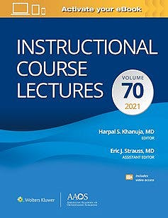 Portada del libro 9781975160814 Instructional Course Lectures Volume 70