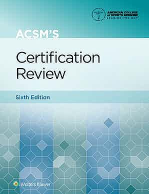 Portada del libro 9781975161910 ACSM's Certification Review