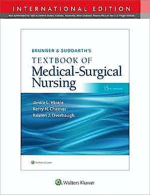 Portada del libro 9781975170646 BRUNNER & SUDDARTH's Textbook of Medical-Surgical Nursing. International Edition