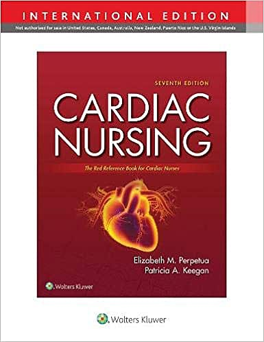 Portada del libro 9781975170844 Cardiac Nursing. The Red Reference Book for Cardiac Nurses. International Edition
