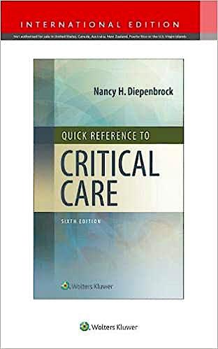 Portada del libro 9781975170851 Quick Reference to Critical Care (International Edition)