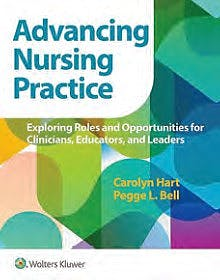 Portada del libro 9781975172800 Advancing Nursing Practice. Exploring Roles and Opportunities for Clinicians, Educators, and Leaders. International Edition