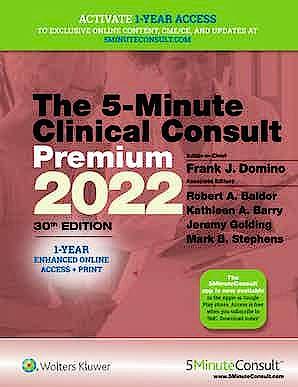 Portada del libro 9781975180140 5-Minute Clinical Consult 2022 Premium + 1 Year Enhaced Online