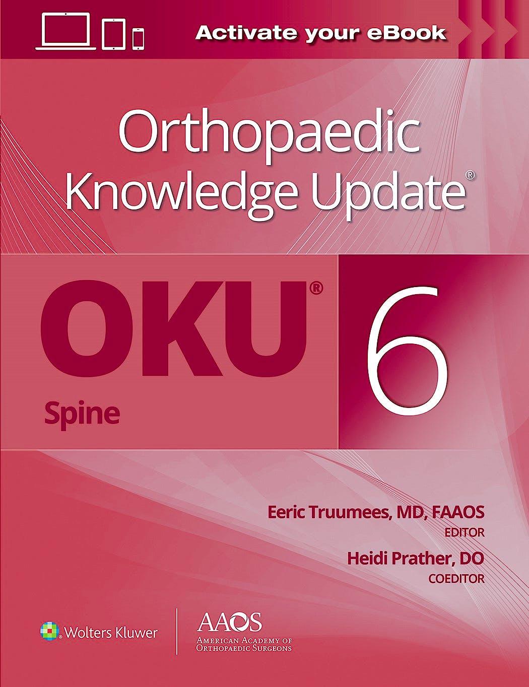Portada del libro 9781975180171 Orthopaedic Knowledge Update® Spine 6. Print