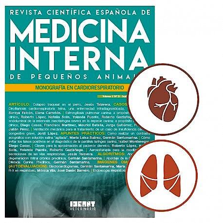 Portada del libro 9781976796043 Revista Científica Española de Medicina Interna de Pequeños Animales. Foco en Cardiorespiratorio (Vol. 1, Nº 1, Enero-Febrero 2017)