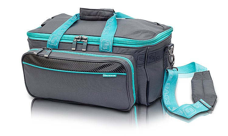 Bolsa Sanitaria Ligera Modelo Gp's EB06.009. Poliéster, Color Gris-Verde
