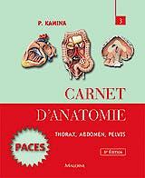 Portada del libro 9782224033804 Carnet D'anatomie, Tome 3: Thorax, Abdomen, Pelvis