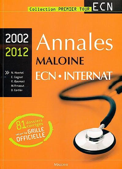 Portada del libro 9782224033903 Annales Maloine Ecn Internat 2002-2012