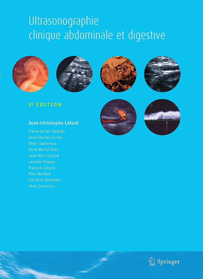 Portada del libro 9782287991615 Ultrasonographie Clinique Abdominale Et Digestive