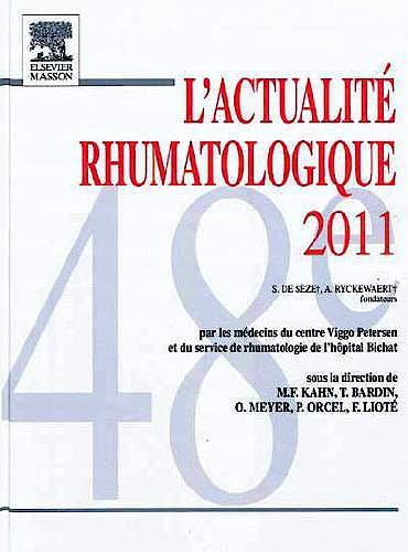Portada del libro 9782294716522 L'Actualité Rhumatologique 2011