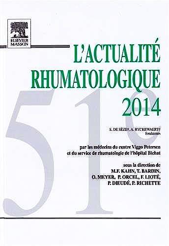 Portada del libro 9782294745249 L'actualité Rhumatologique 2014