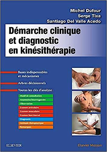 Portada del libro 9782294762390 Démarche Clinique et Diagnostic en Kinésithérapie