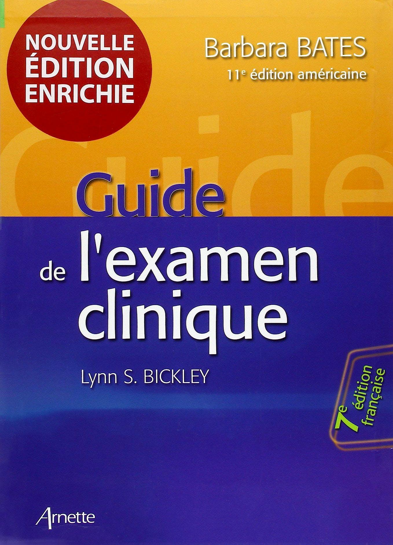 Portada del libro 9782718413501 Guide de L'examen Clinique