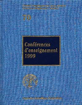 Portada del libro 9782744700415 Conférences D'enseignement 1999 (70)