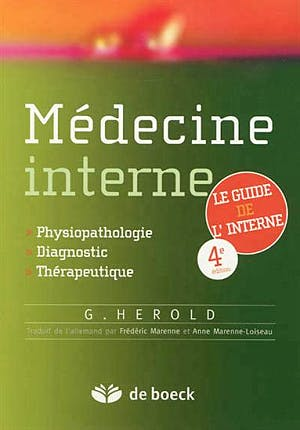 Portada del libro 9782804163358 Medecine Interne. Physiopathologie, Diagnostic, Therapeutique