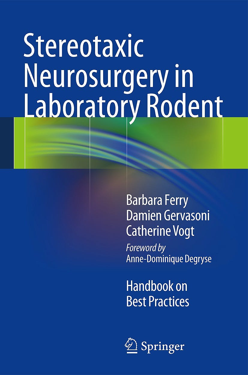 Portada del libro 9782817804712 Stereotaxic Neurosurgery in Laboratory Rodent. Handbook on Best Practices