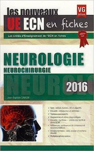 Portada del libro 9782818314944 Neurologie. Neurochirurgie (Ue Ecn en Fiches)