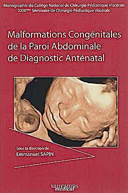 Portada del libro 9782840237082 Malformations Congenitales de la Paroi Abdominale de Diagnostic Antenatal