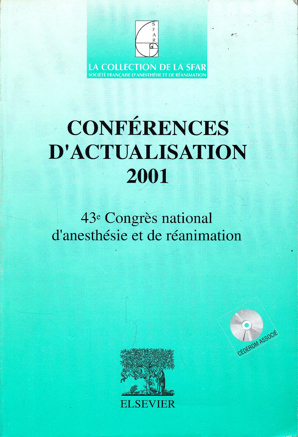 Portada del libro 9782842993290 Conferences D'actualisation 2001. la Collection de la Sfar + Cd-Rom