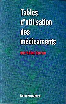 Portada del libro 9782876712874 Tables D'utilisation Des Medicaments