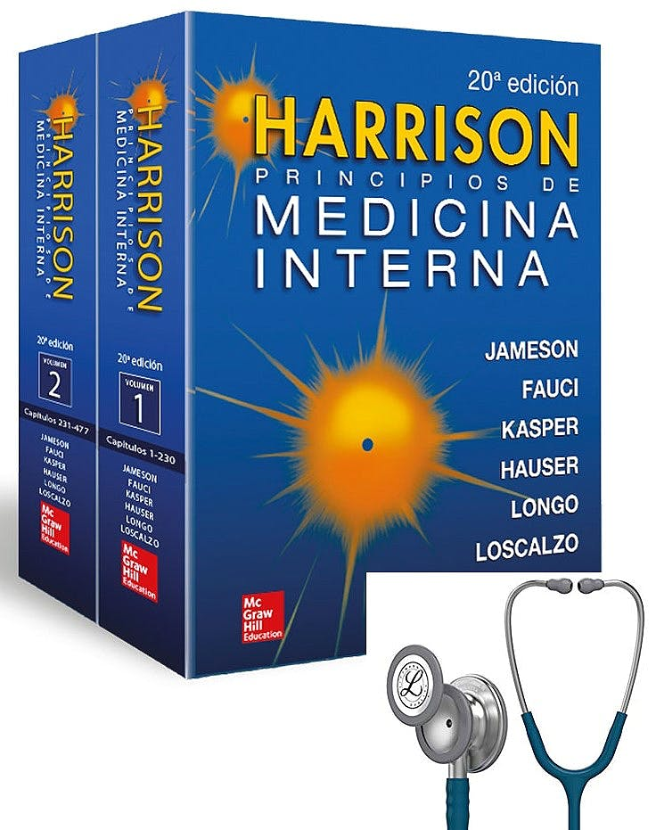 Portada del libro 9782919807437 HARRISON Principios de Medicina Interna, 2 Vols + Fonendoscopios Littmann Classic III