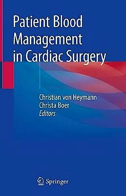 Portada del libro 9783030153410 Patient Blood Management in Cardiac Surgery