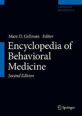 Portada del libro 9783030399016 Encyclopedia of Behavioral Medicine (3 Volume Set)