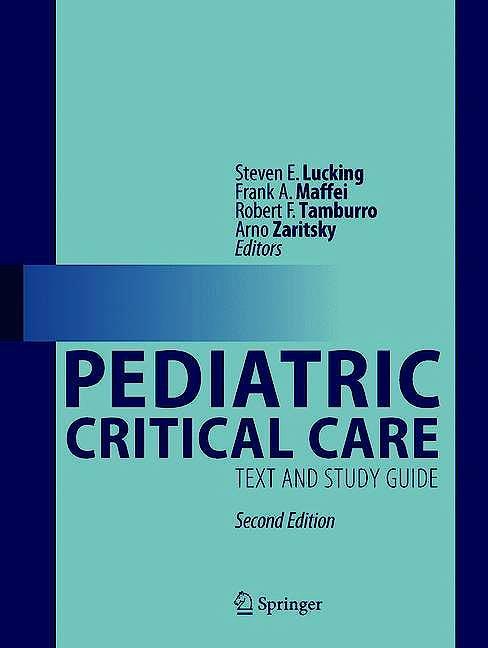Portada del libro 9783030533625 Pediatric Critical Care. Text and Study Guide
