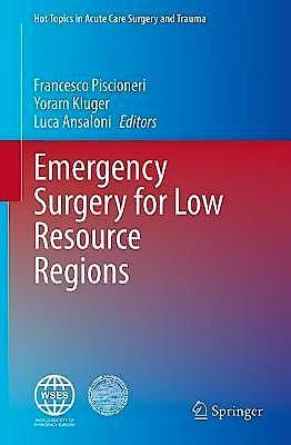 Portada del libro 9783030680985 Emergency Surgery for Low Resource Regions