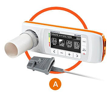 Spirobank II Smart - Espirómetro con Oxímetro para Ipad con Turbina Reusable