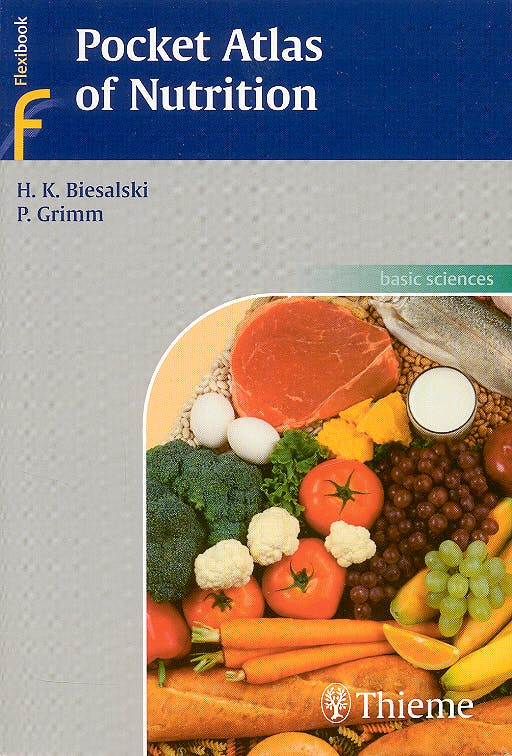 Portada del libro 9783131354815 Pocket Atlas of Nutrition