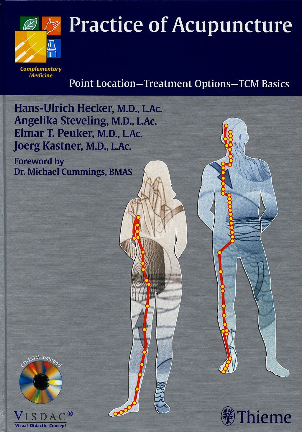 Portada del libro 9783131368218 Practice of Acupuncture + Cd-Rom. Point Location, Treatment Options, Tcm Basics